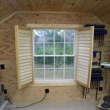 Gewölbtes Flügelfenster-Fenster des Gitter-Entwurfs-UPVC mit Scheiben-dem Öffnen der Unterseiten-2