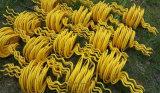 Plástico de PVC amarillo del desviador de Vuelo del cisne