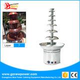 3-7 machine d'acier inoxydable de machine de fontaine de chocolat de couches/sauce à chocolat