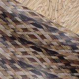 De Textuur van de Mand van het Riet van de rotan drukte Foiled Kunstmatige Leer van de Zak van pvc af