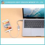 Umsponnener USB-Nylontyp c-Kabel mit der schnellen Aufladung für Samsung-Galaxie-Anmerkung 8 S8