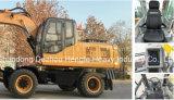 Excavadora de ruedas Hengte 12,5 toneladas Htl120-9 Excavadora media