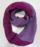 Lady Fashion Acrílico Mohair Knitted Winter Warm Infinity Scarf (YKY4183)