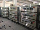 [هيغقوليتي] تجاريّة مطبخ 3 ظهر مركب 9 صينيّة غاز حجارة قاعدة بيتزا فرن