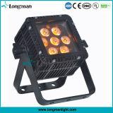 Luz plana impermeable al aire libre de la IGUALDAD del cuadrado LED RGBW 7X10W
