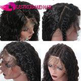 360 pelucas frontales del pelo humano del cordón con la onda rizada del pelo brasileño de Remy del pelo del bebé