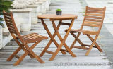 Outdoor Garden Restaurant Furniture Set Mesa de madeira dobrável e cadeiras