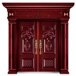 فولاذ باب من الصين تصدير سعر جيّدة حمراء خشبيّة لون باب