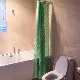 녹색 환경 작풍 목욕탕을%s 100%년 폴리에스테 방수 샤워 커튼