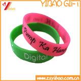 Bracelet personnalisé en caoutchouc pour bracelet en moustique en silicone avec motif Debossed