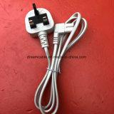 el Bsi negro del 1.2m aprobó el cable de transmisión de 2 Pin Reino Unido con IEC 320 C7