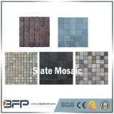 Padrão de mosaico de ardósia branco / cinza popular para decoração de parede exterior