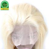 Hohe Thickess 150% blonde überlegene Menschenhaar-Vorderseite-Spitze-Perücke