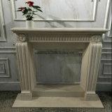 大理石の切り分ける石造りの彫刻の暖炉の環境の暖炉のマントルピース
