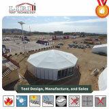 ケイタリングのためのガラス壁が付いている円形のテント、販売のための堅い壁が付いているサーカスのテント