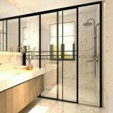 Novo populares simples italiano do Interior de alumínio com vidro temperado PORTA CORREDIÇA