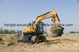 Ht75W de la excavadora de ruedas con 0,3 m3 de la cuchara