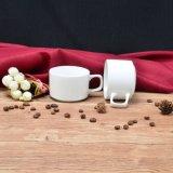 Witte Ceramische Kop thee Staclabe of Koffie voor Bevordering