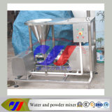 Água da máquina de mistura e misturador do pó