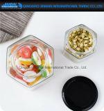 Опарник шестиугольного контейнера домочадца стеклянный для хранения еды