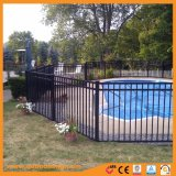 粉の上塗を施してあるプールの安全塀