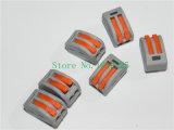 Wago 222-412 Conector de fiação de fio compacto universal Conector de 2 pinos