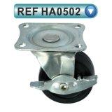 Stuhl-Rad-Fußrolle PU-Nylon-Belüftung-Möbel-Fußrollen (HA0501)