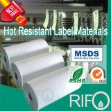 L'impression offset, Water-Resistant, matériel d'étiquette pour l'acier à haute température