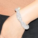 Braccialetto di cristallo Handmade del branello dell'oro bianco dei monili del commercio all'ingrosso di modo