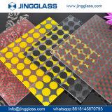 Construção personalizada vidro colorido de Segurança de Impressão Digital de vidro colorido barato de vidro