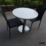 Kkr Pierre artificielle blanche Surface solide Round Table à manger (180104)