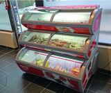 3 Schicht-Eiscreme-Bildschirmanzeige-Gefriermaschine