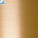 Placa de cobre amarillo de cobre amarillo de la hoja 1.0m m de Cuzn37 Cuzn35 C2680 C2800 H62