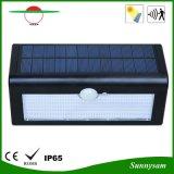 luz solar impermeable accionada solar del jardín del sensor solar de 500lm 36 LED de la luz sin hilos de la pared