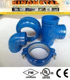 L'UL Grooved malléable FM de couplage de tuyau d'incendie de couleur de bleu de fer a reconnu