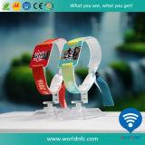 Wristband tissé par tissu fait sur commande professionnel de festival de vente directe d'usine