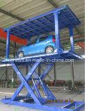 Voiture de type ciseaux pont hydraulique double plate-forme de l'élévateur avec la CE