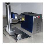 Máquina de escrever rotativa portátil de Nova Fibra Laser para peças de jóias Gravador com Rotary