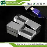 mecanismo impulsor cristalino del flash del USB de la insignia del grabado 8GB más estilo