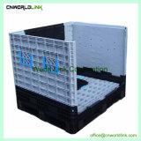 1000kg de plástico empilháveis grande caixa de paletes recolhido para venda