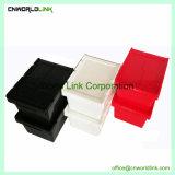 Cassa mobile solida accatastabile di plastica di obbligazione con il coperchio