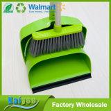 高品質の緑の取り外し可能なプラスチック防風のバケツおよびほうき