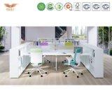 商業家具の一般使用および現代出現の現代開いたTechpanelのオフィスワークステーション