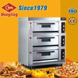 Hongling 3 Dek 6 Oven van de Pizza van het Gas van Dienbladen de Commerciële voor Verkoop
