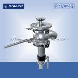 Soupape de bas de réservoir serrée pneumatique de coude de solides solubles 304