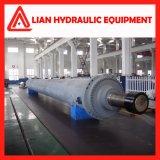 Cilindro hidráulico não padronizado personalizado da pressão média com aço de carbono