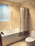 Черный квадрат мозаика PEVA душ шторки для ванной комнаты