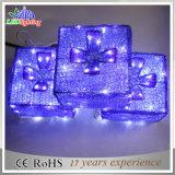 Lumière de Noël imperméable à l'eau de décoration de mariage de motif de boîte-cadeau de DEL 3D