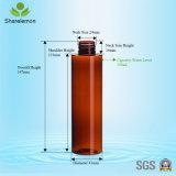 янтарные пластичные косметические бутылки 150ml с спрейером насоса для косметической упаковки