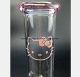 Rosafarbenes Kätzchen-Glaswasser-Farbspritzpistole-Rosa-Wasser-Rohr-Filter
